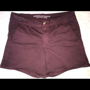 American eagle dressy  maroon shorts